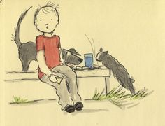 Daydreaming… of animals eating your lunch Gruff?
