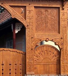 Hungarian carved doorway