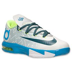 Boys' Grade School Nike KD VI Basketball Shoes| FinishLine.com | Pure Platinum/Night Factor
