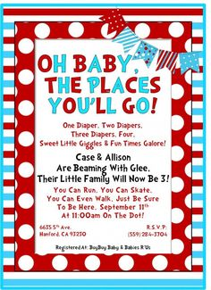 dr seuss baby shower -first part of wording