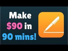 How to Make Money in 90 minutes by Writing