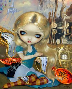 Alice in a Dali Dream - Jasmine Becket-Griffith (Strangeling) (Alice in Wonderland)