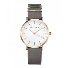 Gold ladies watch West Village - grey strap | ROSEFIELD Watches Sale! Up to 75% OFF! Shop at Stylizio for women's and men's designer handbags, luxury sunglasses, watches, jewelry, purses, wallets, clothes, underwear & more!