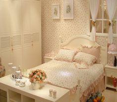 12款韩式田园风格卧室方案 带您走入春意浓浓的家