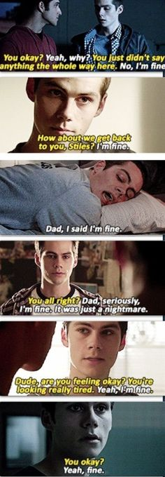 "Teen Wolf: ""I'm fine"" NEVER really means Stiles is fine."
