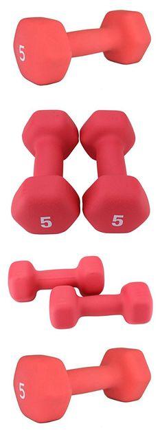 Premier Fitness XPRT Neoprene Coated Hex Dumbbells Pair, 5 lb.