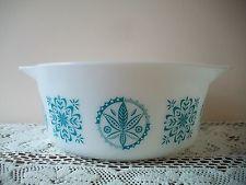 Vintage Pyrex Promotional Rare Turquoise Hex No. 475-B 2 1/2 Qt. Dish