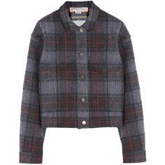 Stella McCartney Textured-cotton and wool-blend tartan jacket ($585) found on Polyvore