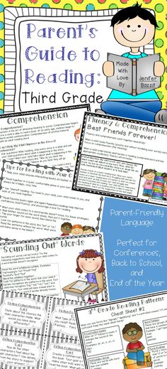 """What can I do to help my child become a better reader?""    As a Reading Specialist, I hear this question frequently from parents. I created this guide to give parents information, activities, and suggestions for helping their children at home. This guide is perfect for parents because it explains reading concepts in clear, easy-to-understand language. You don't have to be an education professional to understand this parent guide!"