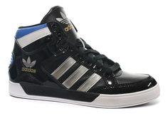 new concept c0005 f0bb4 Adidas Originals Men s Hard Court Hi Black Silver   White Trainers (6.5 UK)   Amazon.co.uk  Shoes   Bags