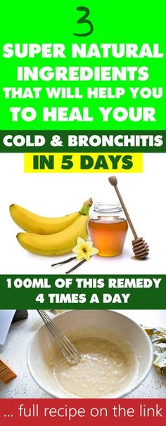Treating chronic cough and bronchitis has always been a challenge even for conventional medicine…well, up until now. This new natural remedy contains some of the oldest and most powerful ingredients that soothe the throat and lungs and cure coughing and bronchitis in no time! Thanks to the mighty properties of honey and bananas, which are included in the recipe, you can use this remedy for both children and adults and enjoy its flavor as well! Anything fromsore throat, bad cough and even…