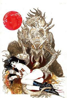 Esteban Maroto - Vampirella Art! Comic Art