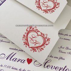 A gente ama convite com corações  casamentosetravessuras.com - Lembrancinhas de Casamento Convites Aniversário 15 anos Formatura etc.