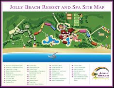 Antigua Resorts | Map Layout Jolly Beach Resort