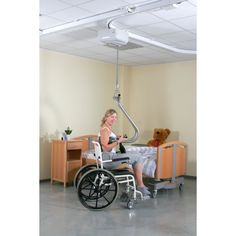 Sure Hands Ceiling Track Mobility Lift makes mobility for wheelchair users that much easier with a ceiling mounted track that can be installed anywhere