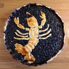 Blueberry pie for a Swedish crayfish party! [OC]
