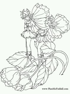 Phee McFaddell Artist pretty free coloring page