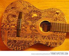 Sharpie art on a guitar…