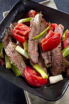 Grilled Steak And Tomatoes