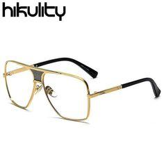e78f58f8ff Men s Eyeglasses gold frame over-sized eye wear Metal Frames