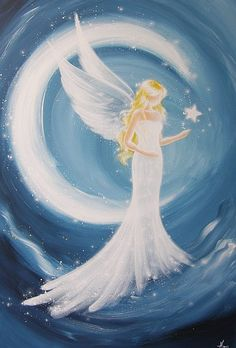 """Limited angel art poster """"Part of you"""", modern contemporary angel painting, artwork, print, glossy photo❤️"""