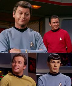 """McCoy: """"Personally, I find it fascinating that, with all their scientific knowledge and advances, it was good old-fashioned human emotion that the Vians valued the most."""" Scotty: """"Perhaps the Vulcans should hear about this."""" Kirk: """"Mr. Spock, can you be prevailed upon to bring them the news?"""" Spock: """"Possibly, Captain. I shall certainly give the thought all the consideration it is due."""" From The Empath (Star Trek)"""
