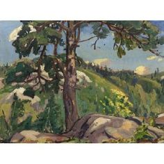 The pine tree by Arthur Lismer in Spring Auction of Important Canadian Art on June 2013 at the null null sale null, lot 20 Pine Tree Painting, Tree Paintings, Nature Paintings, Group Of Seven Artists, Group Of Seven Paintings, Canadian Painters, Canadian Artists, Ontario, Toronto