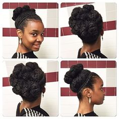 Try a chunky bun. Re-create this look by pulling the hair back into a ponytail. Two-strand twist individual sections and then tuck them under the ponytail holder or secure them with pins.   15 Super Easy Protective Styles That Anyone Can Do