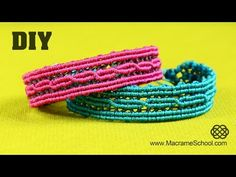 ▶ Reflective Macramé Bracelet with Light Reflecting Thread ☼ - YouTube