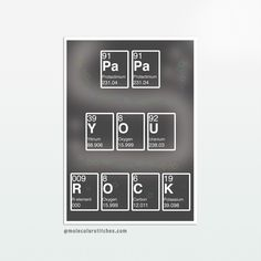 elements from the period table are arranged to spell pa pa y o u r o c k a - Tabla Periodica Interactiva Download