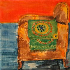 kate lewis, art, painting, painting of a chair