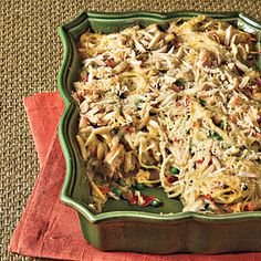 11 Quick-Fixes with Rotisserie Chicken | Chicken Tetrazzini With Prosciutto and Peas | SouthernLiving.com