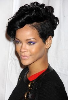 Pepsi Smash Super Bowl Bash RIAA And Feeding America Inauguration Charity Ball 2008 American Music Awards - Press Room 2008 UNICEF Snowflake Lighting Ceremony 2008 MTV Video Music Awards Arrivals See all Rihanna pictures here Short Relaxed Hairstyles, Cute Short Haircuts, Short Hairstyles For Women, Trendy Hairstyles, Hair Styles 2014, Curly Hair Styles, Natural Hair Styles, Rihanna Hairstyles, Afro Hairstyles