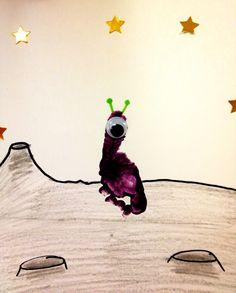 Baby Footprint Alien. Outer Space Week.