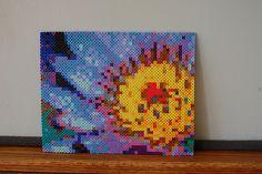flower perler bead art #1