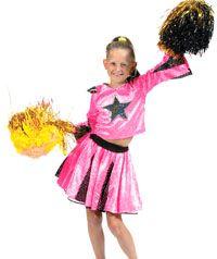 Disfraz de Lujo de Animadora Estrella Rosa