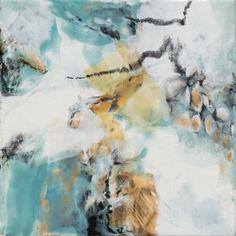 "Martha Rea Baker encaustic Windswept I 12 x 12"""