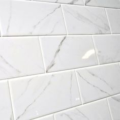 Apennines is a flat brick gloss wall tile by Fabresa. Ceramic brick tiles have a marble print in the style of Apennines marble instead of a pure flat colour. Marble Print, Marble Tiles, Wall And Floor Tiles, Wall Tiles, Brick Tiles Kitchen, Bathroom Wall, Bathroom Ideas, Flat Color, Colour