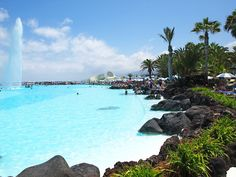 Martianez Lake is an entertainment complex located in Tenerife, Canary Islands. It features a central artificial lake with pools, gardens, terraces and restaurants carved in natural volcanic rock. http://www.touristeye.com/Guide-Top-places-to-visit-in-the-Canary-Islands-g-986