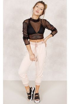 Cropped de Tela Luna Preto Fashion Closet - fashioncloset