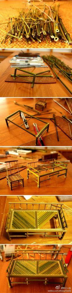 Manualidades con bambu / Crafts with bamboo