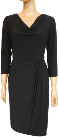 Jones New York Black Jersey Short Work/Office Dress Size 8 (M) off retail Office Dresses, Dresses For Work, Jersey Shorts, Luxury Fashion, Retail, New York, Authenticity, Size Chart, Skirts