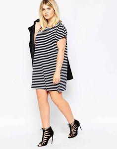 This cozy striped t-shirt dress.
