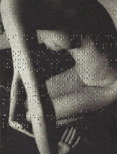 by Leon Ferrari Poem by Andre Breton (embossed in Braille on a photograph)