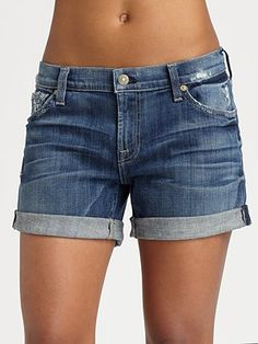 7 For All Mankind Relaxed Roll-Up Shorts  #SaksLLTrip