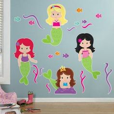 Mermaids+Giant+Wall+Decals