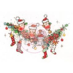 Tampon clear Wild Rose Studio Christmas Robins