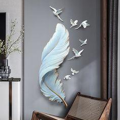 3d Wall Painting, Mural Wall Art, Nursery Wall Decals, Wall Art Decor, Angel Wings Wall, Plaster Art, 3d Home, Art Moderne, Modern Wall Decor