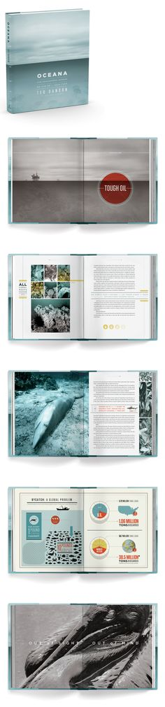 Stunning book design. // Oceana: Our Endangered Oceans and What We Can Do to Save Them #aida