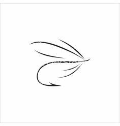 Flyfishing on white background vector